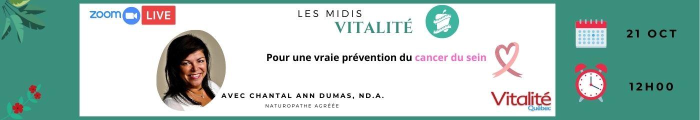 Live Chantal Ann Dumas – cancer du sein